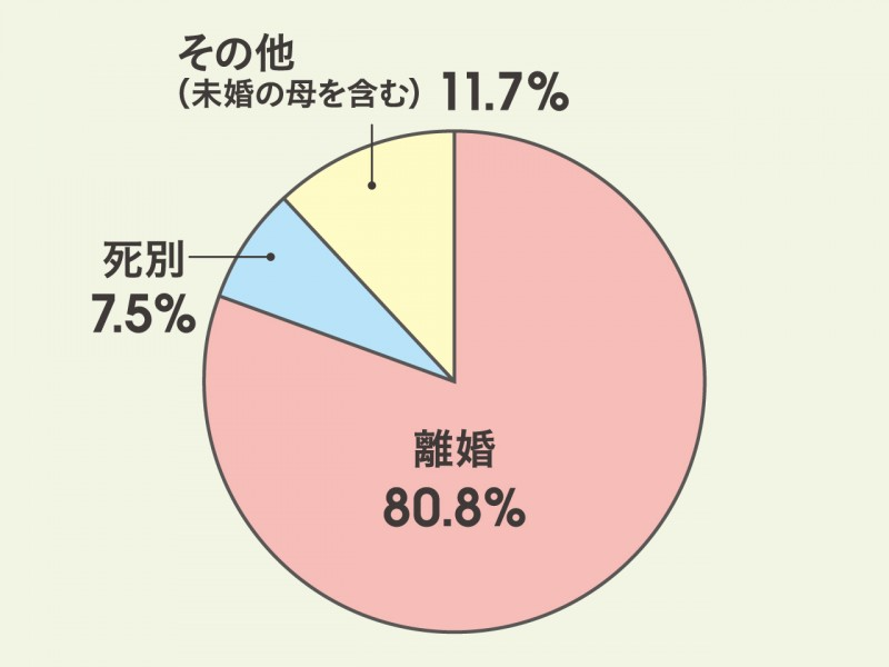 シングルマザー円グラフ