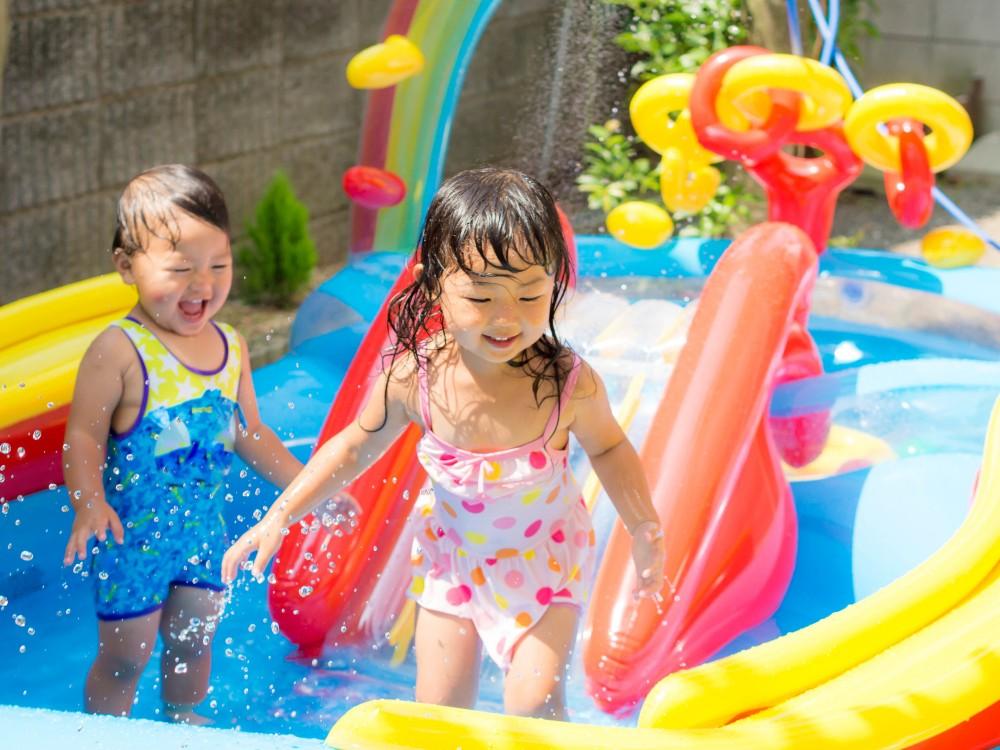 水遊びが大好きな子どもだけに、プールに入れないのはかわいそうですね