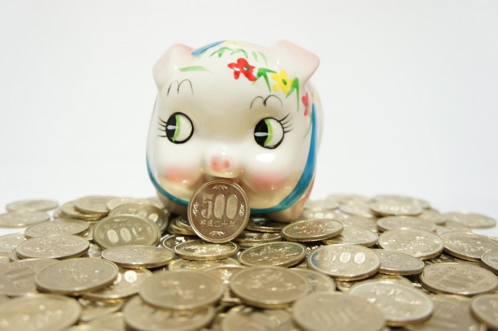 500円玉も貯めだしたらすぐに大金になります。