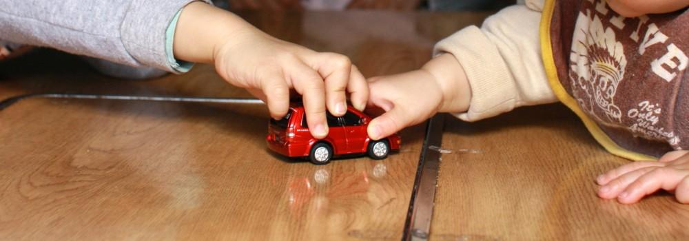 ケンカの原因はおもちゃの取り合いなど、ささいなことがほとんど。