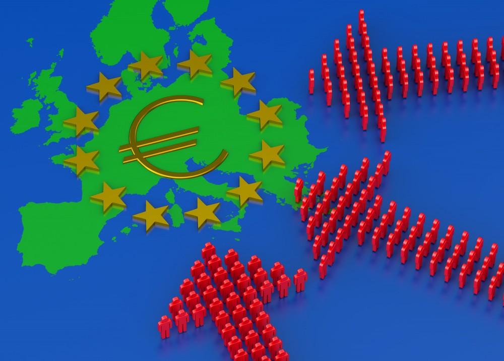 多くの難民、移民がヨーロッパを目指します