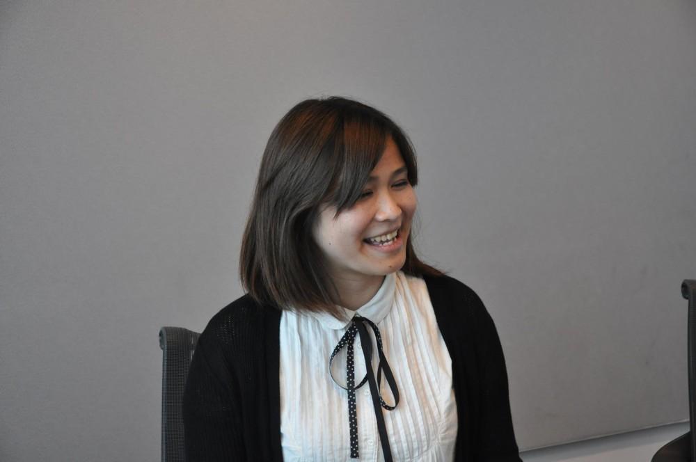 笑顔がかわいらしい、大垣さん。